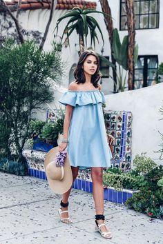 VivaLuxury - Fashion Blog by Annabelle Fleur: OFF THE SHOULDER DRESS: DAY VS NIGHT