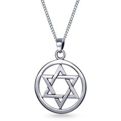Bling Jewelry Star of my Faith (34 AUD) ❤ liked on Polyvore featuring jewelry, necklaces, grey, necklaces pendants, pendant-necklaces, sterling silver star pendant, sterling silver star of david necklace, star of david necklace, sterling silver necklace pendant and sterling silver necklace