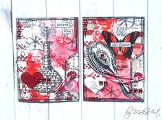 """My mixed media ATCs """"Love"""" Welcome again!      During my last overseas ATC swap I was ask to participate in an interesting event. All participants got the same produ..."""