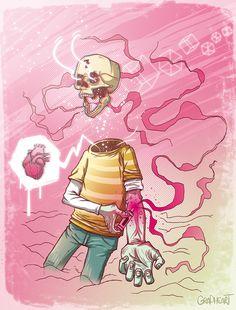 New illustrations by Grapheart , via Behance