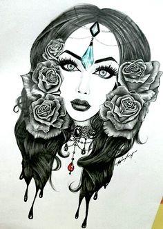 Gypsy drawing.