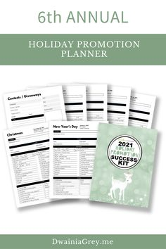 The Holiday Promotion and Success Kit allows you to plan promotions, blog posts, and social media posts for the 2021 Holiday Season.The Holiday Promotion and Success Kit include worksheets and checklists for you to complete. Also includes review and budget templates.The Holiday Promotion and Success Kit will help you develop a Holiday Promotion Plan and success strategy for the coming months. #holidayseason Buy Now! Marketing And Advertising, Social Media Marketing, Social Media Cheat Sheet, Seo News, Budget Templates, Promotion, Success, Messages, Kit