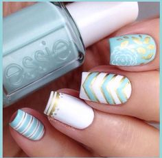 nice Cute and Easy Nail Art Designs That You Will Love - Nail Polish Addicted Fabulous Nails, Gorgeous Nails, Love Nails, Pretty Nails, My Nails, Simple Nail Art Designs, Cute Nail Designs, Easy Nail Art, Glitter Nail Polish