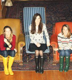 Crew Skirt: TopShop Blouse: J.Crew Boots: Hunter Tights: Milly Bracelets: J.Crew Socks: Lisa B (Similar) Wellies Rain Boots, Hunter Wellies, Hunter Boots, Prep Style, My Style, J Crew Boots, Crew Socks, Ladies Wellies, Librarian Chic