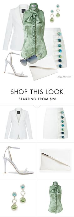 """""""White + 1"""" by angy-beurskens ❤ liked on Polyvore featuring Weekend Max Mara, Christopher Esber, Jimmy Choo, Boohoo, Oscar de la Renta, L'Wren Scott and Michael Kors"""