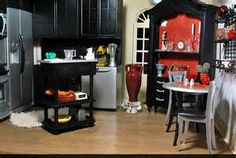 Playscale Dollhouse Kitchen Diorama