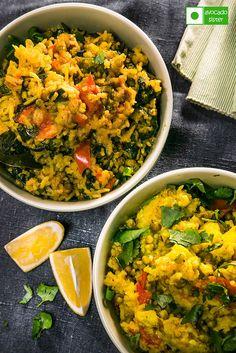 блюдо из риса и бобовых