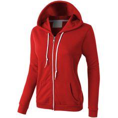 LE3NO PREMIUM Womens Lightweight Vintage Zip Up Sweatshirt Hoodie ($30) ❤ liked on Polyvore featuring tops, hoodies, jackets, sweaters, red sweatshirt, lightweight hoodie, sweat shirts, vintage sweatshirt and hoodie sweatshirts