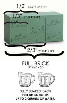 How To Use Floral Foam Brick