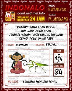 Undian Lotre 3D Togel Wap Online Live Draw 4D Indonalo Palangkaraya 19 Desember 2016