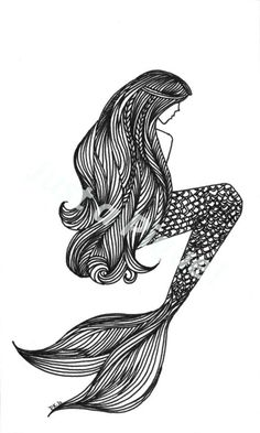 #tattoo #mermaid #sketch
