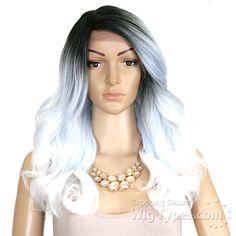 Its A Lace Front Wig - Synthetic Lace Front Wig - SWISS LACE ASPASIA (futura) - WigTypes.com