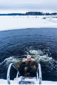 Ice swimming in Finland, followed by a Finnish sauna experience. Are you brave enough? | Geotraveler's Niche Travel Blog