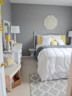 Bedroom Design Ideas Best Gray Bedroom Ideas gray bedrooms ideas, gray decor b Grey Room Decor, Guest Bedroom Decor, Room Ideas Bedroom, Guest Bedrooms, Home Bedroom, Bedroom Designs, Gray Decor, Bed Room, Grown Up Bedroom