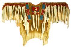Authentic Native american beaded deerskin old style Blackfoot war shirt