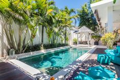 Creative Swimming Pool Designs Will Make a Splash In Your Backyard ~ Home of Magazine Tropical Pool Landscaping, Small Backyard Pools, Backyard Pool Designs, Small Pools, Swimming Pools Backyard, Swimming Pool Designs, Backyard Patio, Bali House, Luxury Swimming Pools