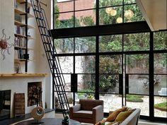 Wall of windows - Brooklyn Townhouse, Robert Kahn Architect