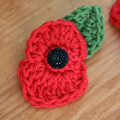 Need, Want, Must Have: Handcrafted Crochet Poppy Brooch