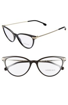 d5c213fa3674 Free shipping and returns on Versace 54mm Cat Eye Optical Glasses at  Nordstrom.com.