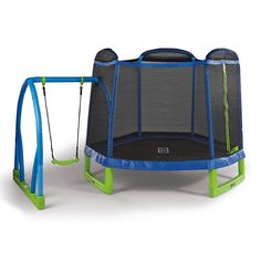 Child's-Kids-Boys-Girls-Toddlers Trampoline Jumping & Swing-set Combo (age range 3-10 years old), Ideal for indoor or outdoor use, (Free FedEx Ground Shipping in the USA)