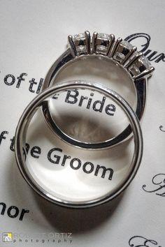 creative shot of rings