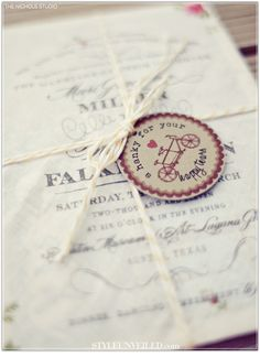 Style Unveiled - Style Unveiled | A Wedding Blog - Vintage Handkerchief Wedding Invitations by LuckyLuxe