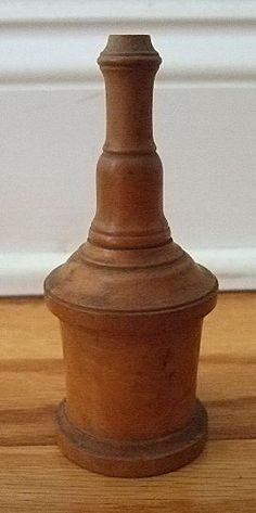 Antique Victorian Fruitwood Sewing Needle Case; 1850