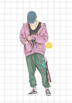 new Ideas baby art illustration fashion sketches Boy Illustration, Character Illustration, Illustration Fashion, Pop Fashion, Fashion Art, Urban Samurai, Boys Wallpaper, Draw On Photos, Cyberpunk Fashion