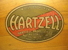 Vintage Hartzell propeller logo.