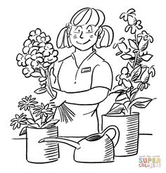 Variety of profession printables located in coloring
