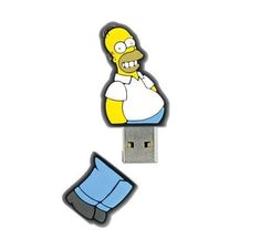 8GB Homer Simpson USB Flash Drive. #link http://amzn.to/1yrkDq8