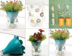 How to DIY Pretty Planter from Plastic Bottles