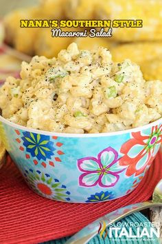 Nana's Southern Style Macaroni Salad is the best ever macaroni salad of all time. (I've never made macaroni salad! Southern Dishes, Southern Recipes, Southern Food, Summer Recipes, Great Recipes, Favorite Recipes, Salad Recipes, Pasta Recipes, Cooking Recipes