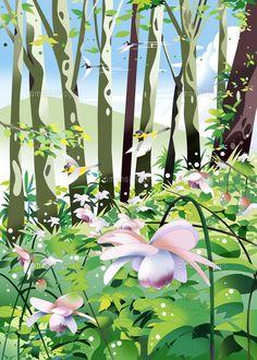 夏のれんげしょうまの林 (c)KAWANO Ryuji