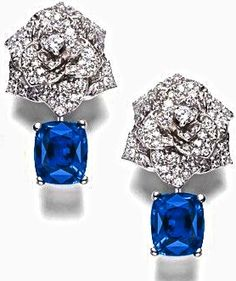 PIAGET Garden Party sapphire and diamond earrings