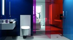 The Geberit Monolith sanitary modules for WCs, bidets and washbasins open up unexpected possibilities when it comes to bathroom design. Bad Inspiration, Bathroom Inspiration, Bathroom Wall, Modern Bathroom, Geberit Monolith, Basin Design, Wall Mounted Toilet, Toilet Design, Frameless Shower