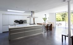 white and grey kitchen by McCann Moore Architects Kitchen Decor, Kitchen Design, Architects, Kitchens, House, Park, Grey, Home Decor, Houses