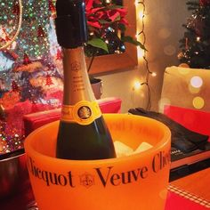 Christmas Day breakfast with Veuve Clicquot.