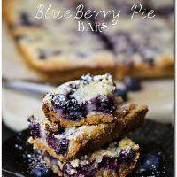 Blueberry Pie Bars {Recipe} - Kleinworth & Co