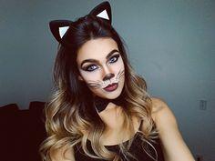 Maquiagem de gatinha para festa a fantasia por Nathalia Andrade