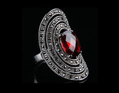 Enlonged Ruby Ring Class Ring, Rings, Accessories, Jewelry, Jewlery, Bijoux, Jewerly, Ring, Jewelery