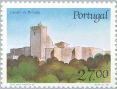 Sello: Castle of Palmela (Portugal) (Castles and Coat of arms of Portugal (9th group)) Mi:PT 1752,Sn:PT 1724,Afi:PT 1836