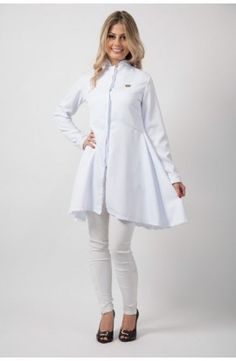 Beauty Uniforms, Spa Uniform, Scrubs Outfit, Lab Coats, Womens Scrubs, Fashion Outfits, Womens Fashion, Ideias Fashion, White Dress