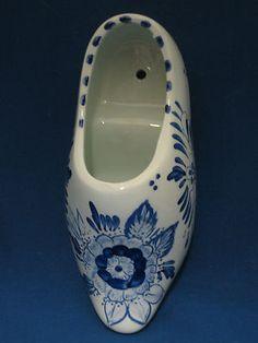 Delfts Blauw Delft Bleu Dutch Shoe Hand Painted Wall Pocket Delftware Holland | eBay