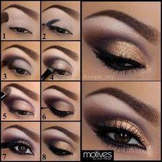 Golden Shades Eyeshadow Tutorial - Style Hunt World | Makeup Tutorials | Home Remedies | Eyeliner Tips