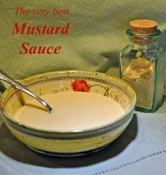 Best Mustard Sauce - for Baked Ham · Thyme for Cooking Mustard Sauce For Ham, Creamy Mustard Sauce, Mustard Recipe, Creamy Sauce, Ham Marinade, Can Cats Eat Ham, Side Dishes For Ham, Main Dishes, Ham Sauce