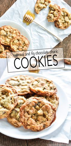 Oatmeal and Fig Chocolate Chunk Cookies are a fun spin on traditional chocolate chip cookies!   www.cookingandbeer.com