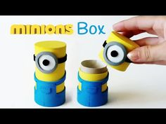 DIY crafts: MINIONS BOX from cardboard tube - Innova Crafts - YouTube