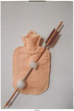 I LOVE YOU, material: textile, wood, mixed mat, 60x20x8 cm
