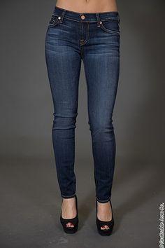 7 for All Mankind Womens Skinny Jean Velvet in Sauvignon  7 For